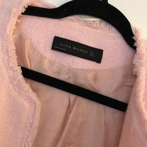 Zara Jackets & Coats - Zara Pink Tweed Jacket
